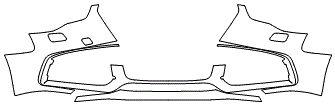"""Película ClearShield de Proteção de Pintura Transparente Super Brilho """"Parachoque Dianteiro"""" Audi A5 Ano 2011/2018"""
