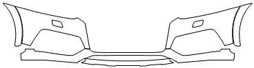 """Película ClearShield de Proteção de Pintura Transparente Super Brilho """"Parachoque Dianteiro"""" Audi Q3 Ano 2010/2018"""