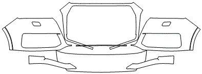 """Película ClearShield de Proteção de Pintura Transparente Super Brilho """"Parachoque Dianteiro"""" Audi Q7 Ano 2011/2018"""
