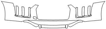 """Película ClearShield de Proteção de Pintura Transparente Super Brilho """"Parachoque Dianteiro"""" Audi R8 Ano 2011/2018"""