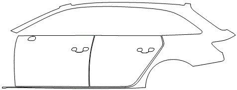 """Película ClearShield de Proteção de Pintura Transparente Super Brilho """"Kit Portas lado Esquerdo/Paralama traseiro lado Esquerdo"""" Audi A4 Avant Ano 2011/2018"""