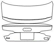 "Película ClearShield de Proteção de Pintura Transparente Super Brilho ""Porta Mala Completo"" Audi A4 Sedan Ano 2011/2018"