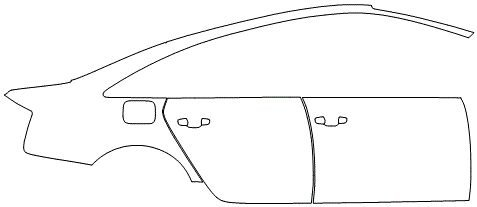 """Película ClearShield de Proteção de Pintura Transparente Super Brilho """"Kit Portas lado Direito/Paralama traseiro lado Direito"""" Audi A6 Ano 2011/2016"""