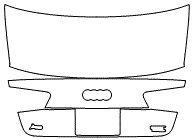 "Película ClearShield de Proteção de Pintura Transparente Super Brilho ""Porta Mala Completo"" Audi A6 Sedan Ano 2011/2018"