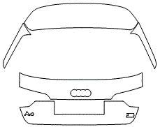 "Película ClearShield de Proteção de Pintura Transparente Super Brilho ""Porta Mala Completo"" Audi RS6 Avant Ano 2011/2018"