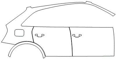 """Película ClearShield de Proteção de Pintura Transparente Super Brilho """"Kit Portas lado Direito/Paralama traseiro Direito"""" Audi Q3 Ano 2011/2018"""