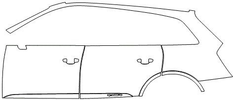 """Película ClearShield de Proteção de Pintura Transparente Super Brilho """"Kit Portas lado Esquerdo/Paralama traseiro lado Esquerdo"""" Audi Q7 Ano 2011/2018"""