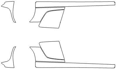 """Película ClearShield de Proteção de Pintura Transparente Super Brilho """"Kit Caixa de Ar/Soleiras"""" Audi R8 Ano 2011/2018"""