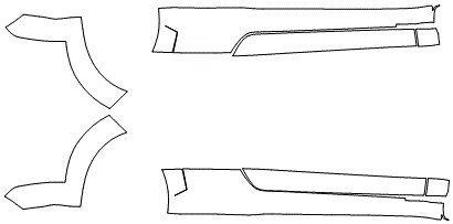 """Película ClearShield de Proteção de Pintura Transparente Super Brilho """"Kit Caixa de Ar/Soleiras"""" Audi TT/S Coupé Sedan Ano 2011/2018"""