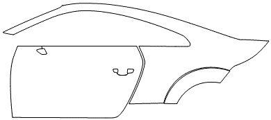 """Película ClearShield de Proteção de Pintura Transparente Super Brilho """"Kit Porta lado Esquerdo/Paralama traseiro lado Esquerdo"""" Audi TT/S Coupé Ano 2011/2018"""