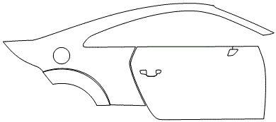 """Película ClearShield de Proteção de Pintura Transparente Super Brilho """"Kit Porta lado Direito/Paralama traseiro lado Direito"""" Audi TT/S Coupé Ano 2011/2018"""