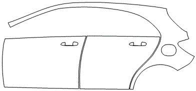 """Película ClearShield de Proteção de Pintura Transparente Super Brilho """"Kit Portas lado Esquerdo/Paralama dianteiro lado Esquerdo"""" Mercedes Benz A 45 Ano 2011/2018"""