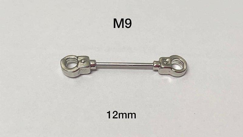 Mamilo folheado 12mm