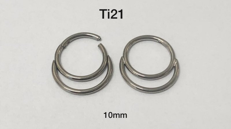 Segmento duplo titânio 10mm