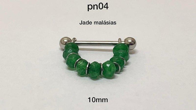 conch pedra jade malásias 10mm