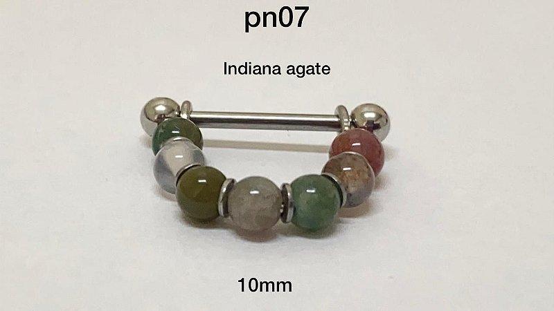 conch pedra indiana agate 10mm