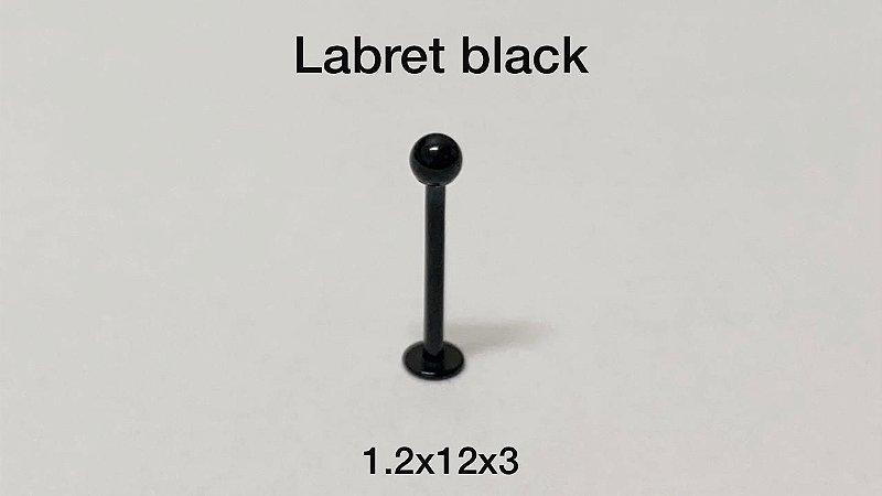 labret em aço black 12mm