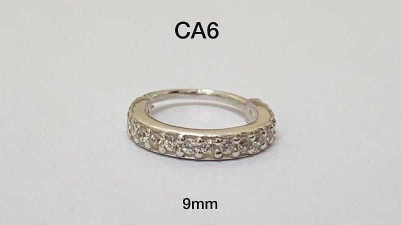 Argola torção em prata 9mm