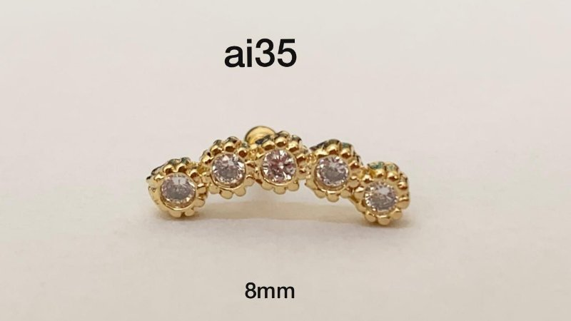Cluster folheado dourado 8mm