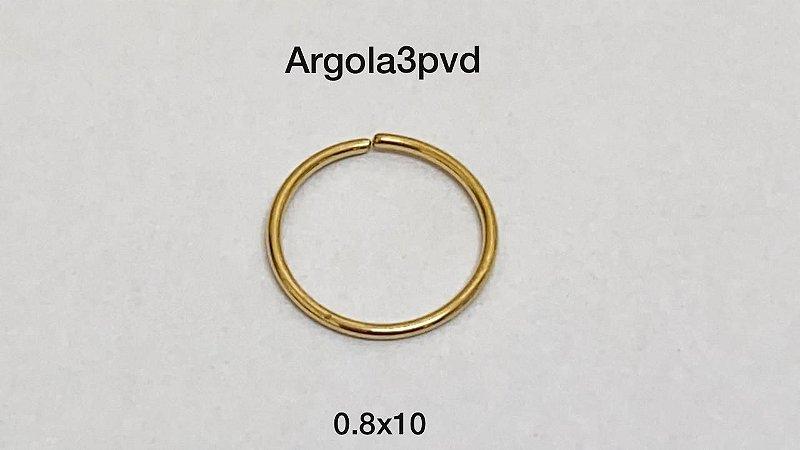 Argola nariz pvd 0.8 x 10mm