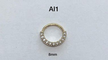 Argola folheada dourado 8mm