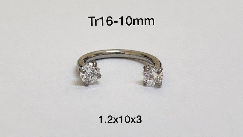 Ferradura rosca interna 10mm pedra 3mm