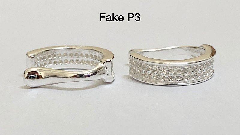 Fake duas fileiras em prata 925