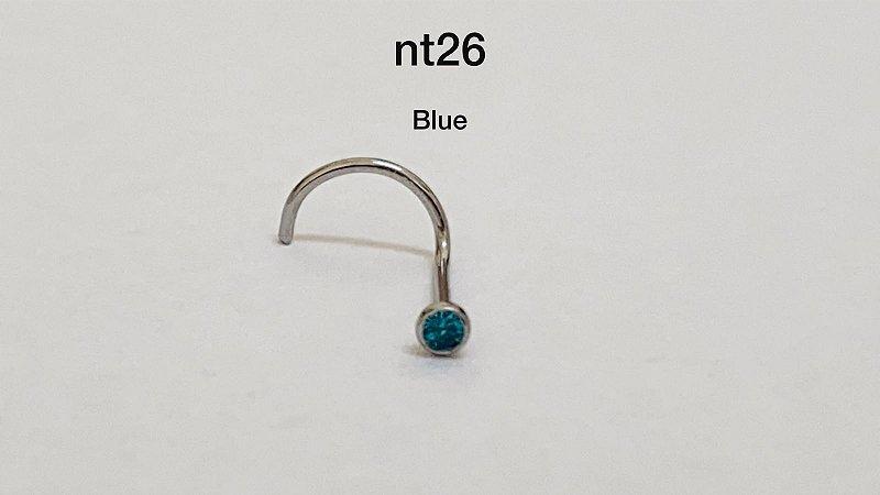 Nostril aço cirúrgico blue 1,50