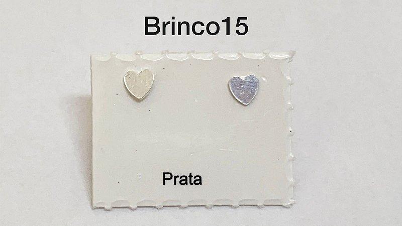 Brinco coração em prata 925 tarracha banhada a prata