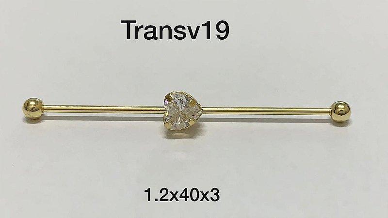 transversal folheado dourado 40mm