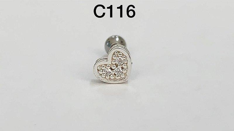 tragus em prata 8mm