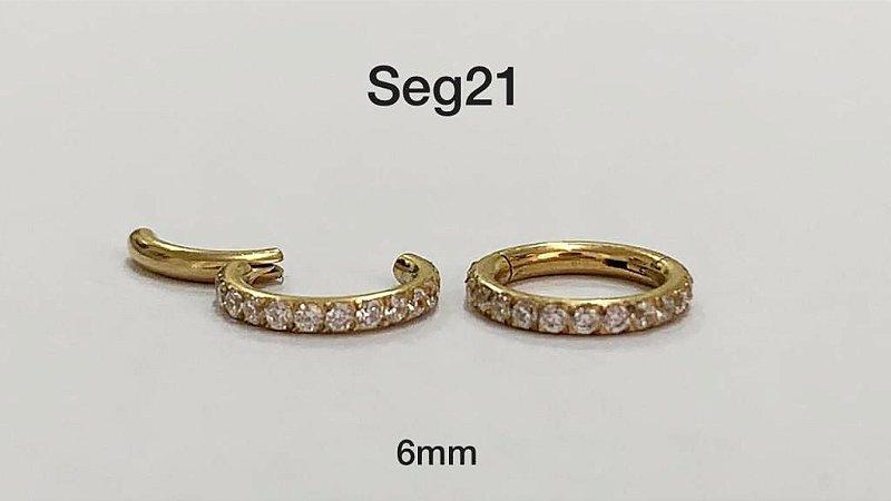 segmento aço dourado 6mm