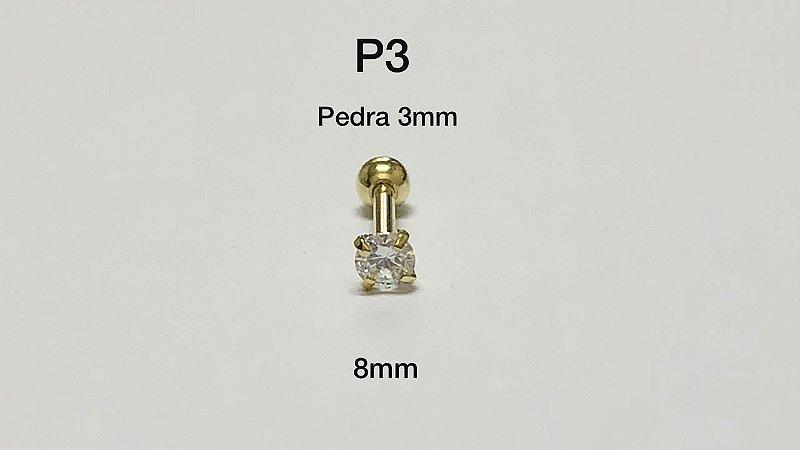 ponto de luz dourado 8mm pedra 3mm