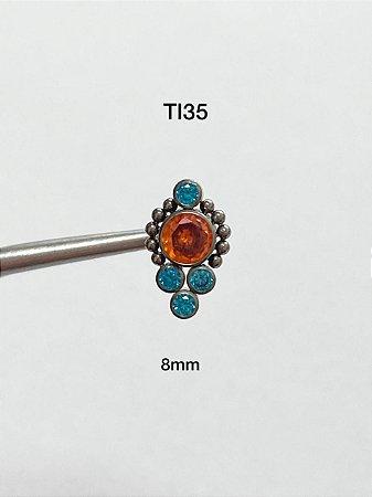 mini cluster em titanio 8mm