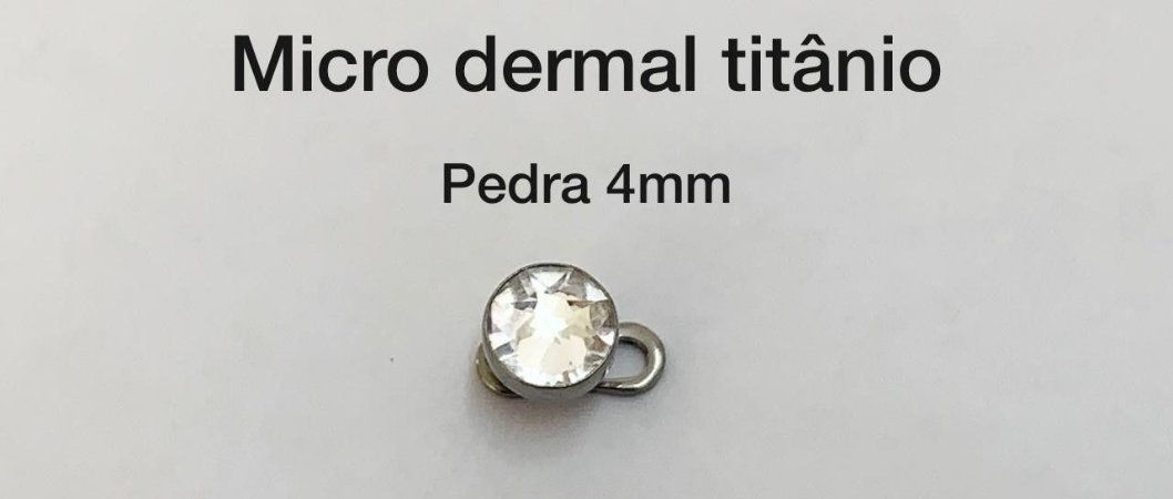 Microdermal titânio 4mm