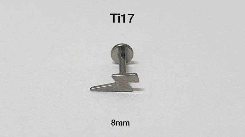 labret Titânio raio 8mm