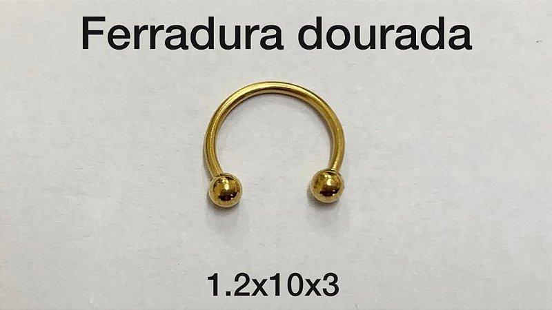 ferradura dourado 10mm