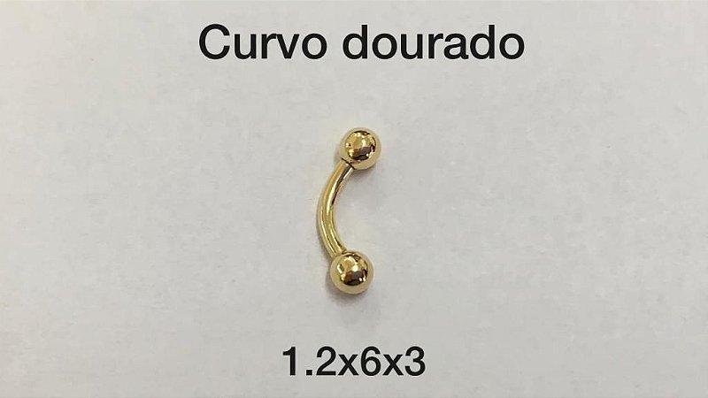 curvo dourado 6mm