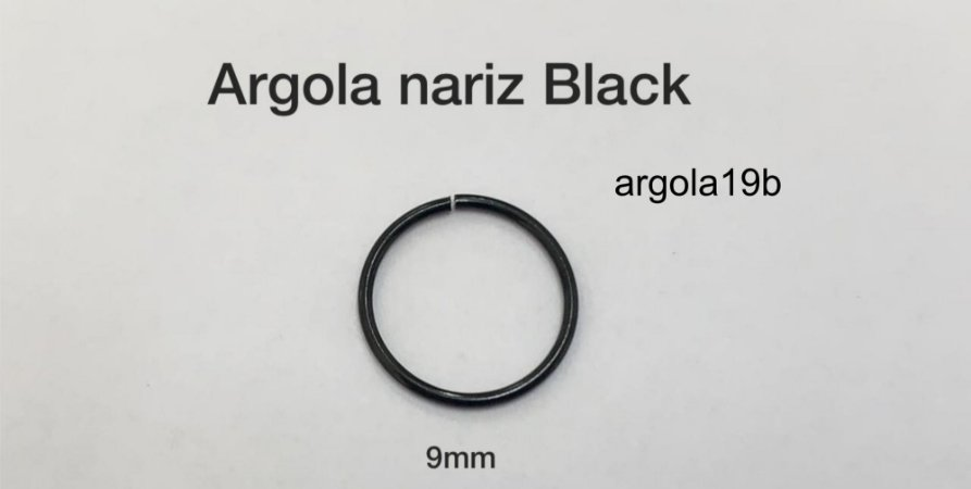 argola nariz black 9mm
