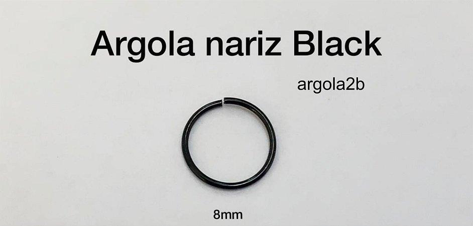 argola nariz black 8mm