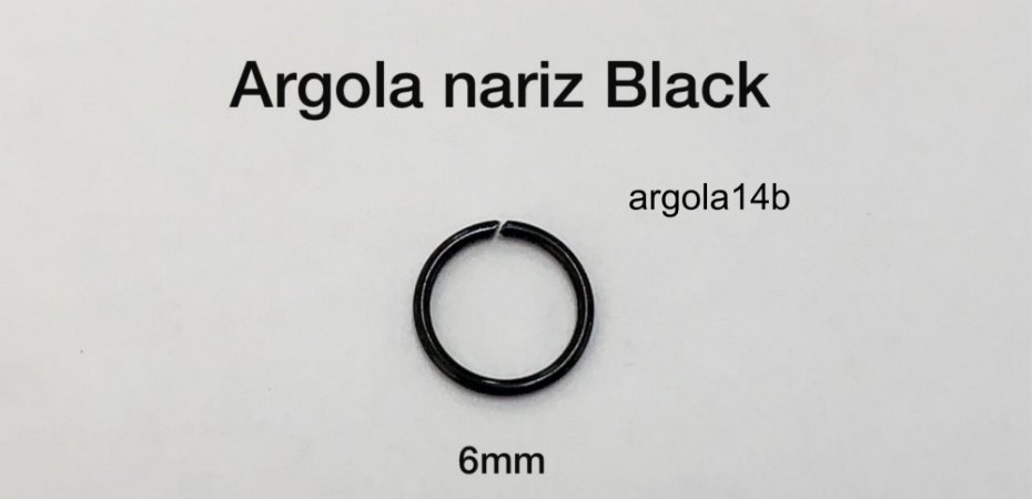 argola nariz black6mm