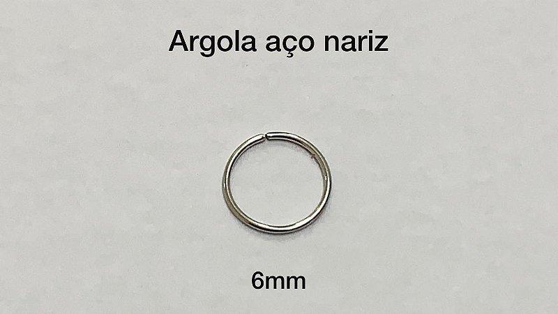 argola lisa aço 6mm