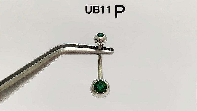 umbigo aço P verde