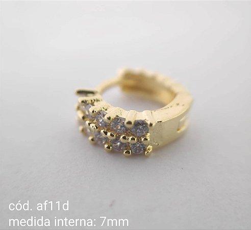 argola folheada dourada