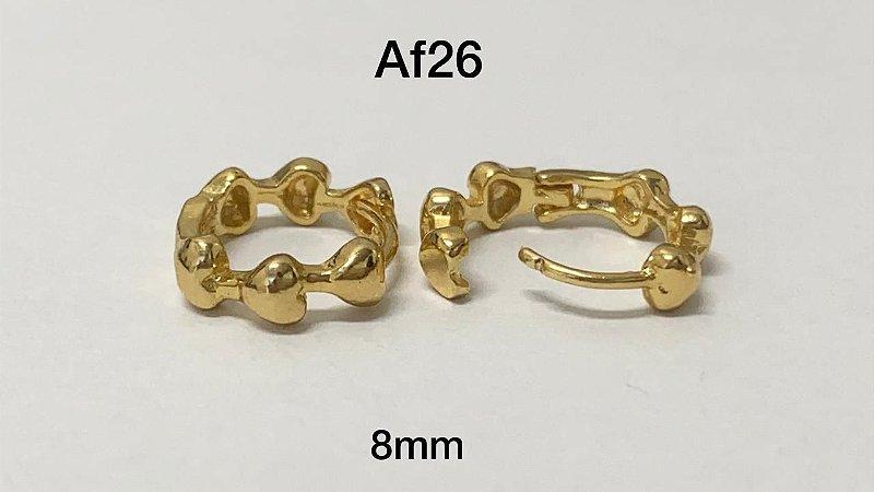 argola de clicker dourada 8mm