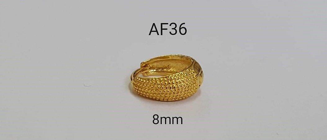argola de clicker folheada dourada