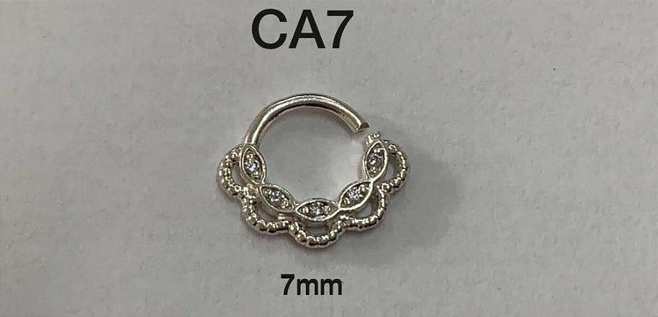 argola em prata 7mm