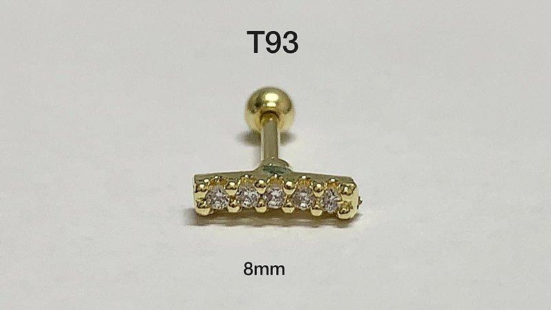 tragu barra folheados  dourado 8mm