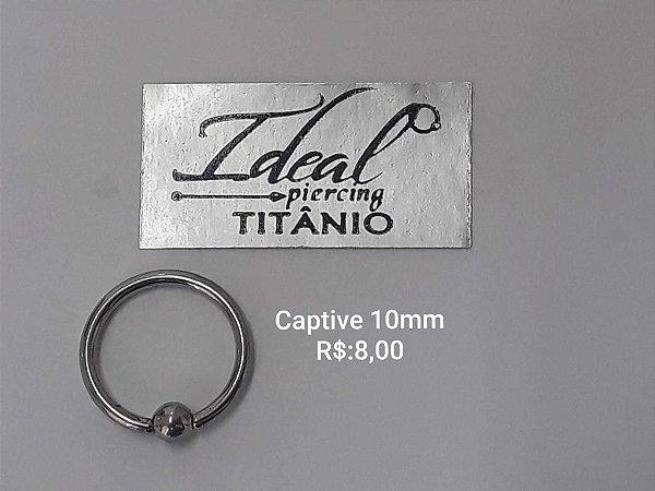 captive titânio 10mm
