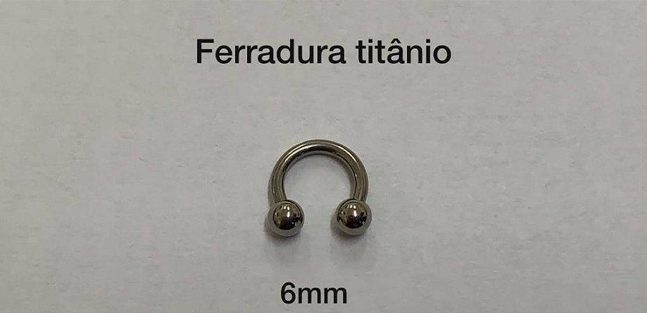 ferradura titânio 6mm